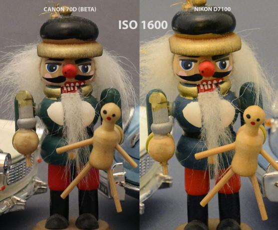 Canon 70D vs Nikon D7100 ISO 1600