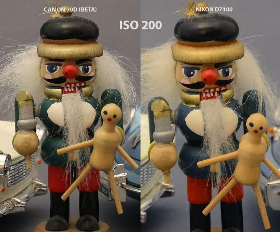 Canon 70D vs Nikon D7100 ISO 200