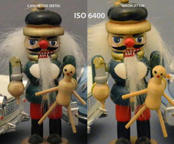 Canon 70D vs Nikon D7100 ISO 6400