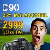 Nikon D90 cu 25% mai ieftin! Promotie de vacanta!