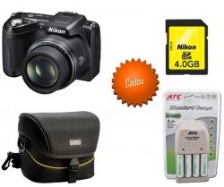 Nikon L110 + geanta + card + acumulatori si incarcator
