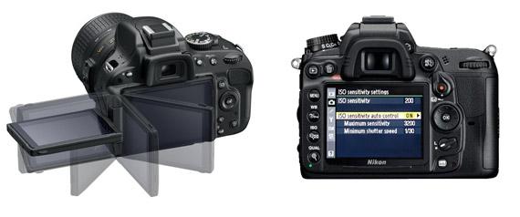 Nikon D5100 (stanga) si D7000 (dreapta)