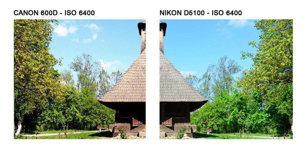 Canon 600d si Nikon D5100: Aceeasi scena, balansul de alb automat