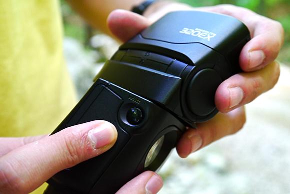 Butonul pentru declansarea de la distana a DSLR-ului prin IR
