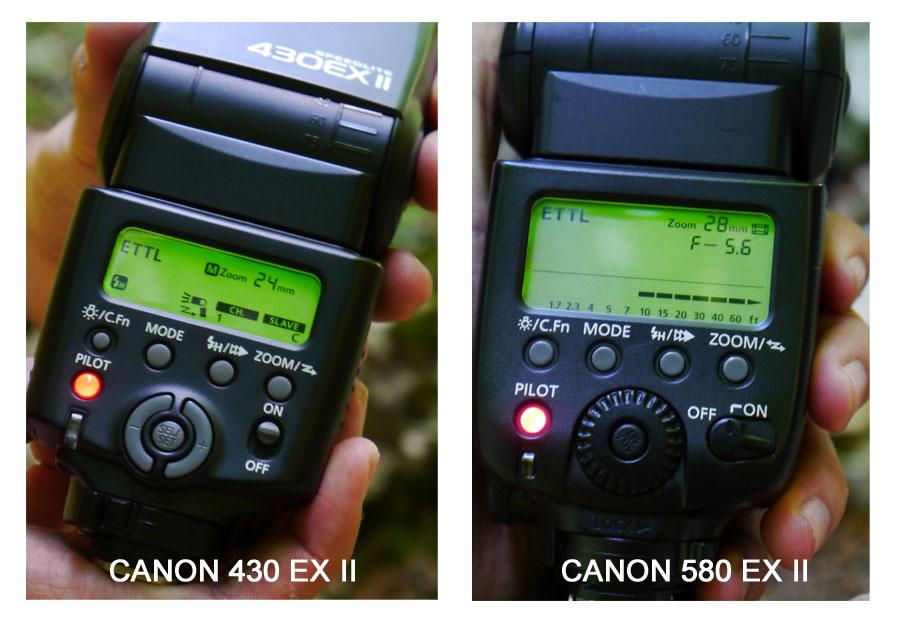 Canon 430 EX II vs. 580 EX II (spate)