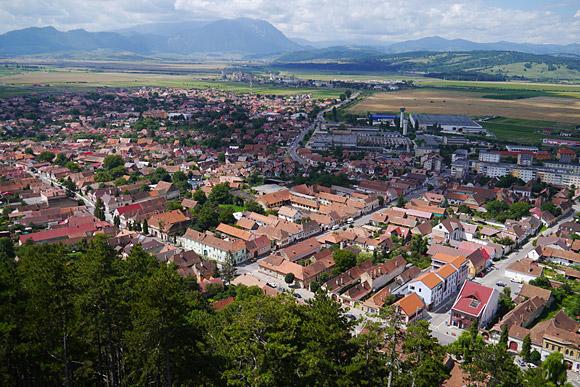 Fotografie aeriana cu G3? Nu, este doar panorama de la Cetatea Rasnov