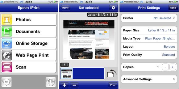 Epson iPrint - Aplicatia gratuita pentru dispozitive iPhone si iPad de la Epson