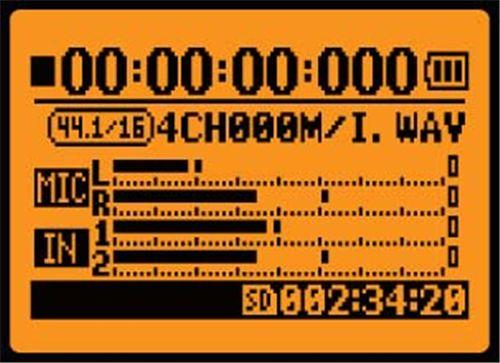 Info afisaj LCD Zoom H4N