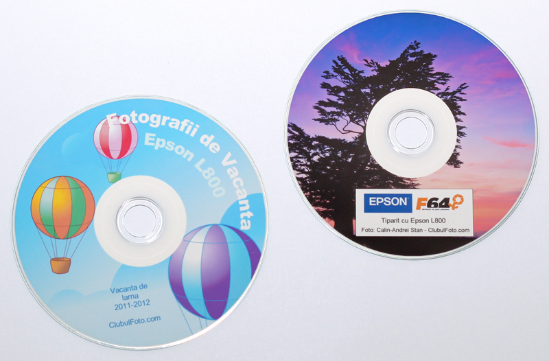 CD-uri tiparite cu Epson L800
