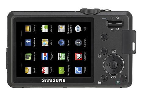 Asa ar putea sa arate un aparat foto Samsung cu sistem de operare Android (simulare Clubul Foto)