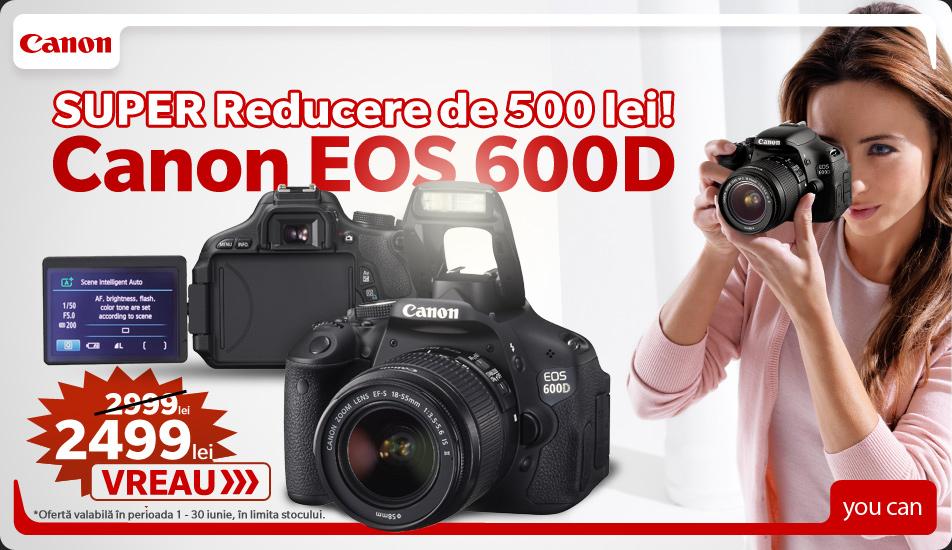 Promotie Canon 600D