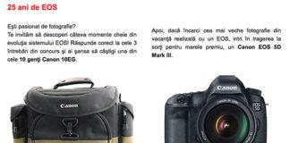 Concurs Canon EOS 25 ani