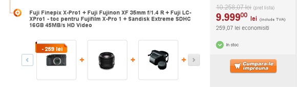 Fuji X-Pro 1 cu obiectiv 35mm f/1.4