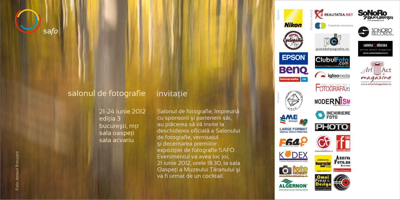 Invitatie la vernisaj: SAFO 2012