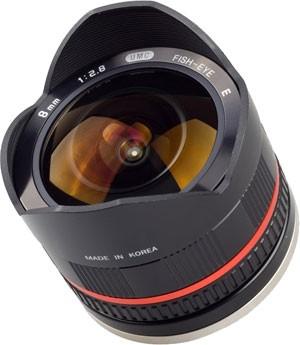 Samyang 8mm fisheye pentru Sony NEX