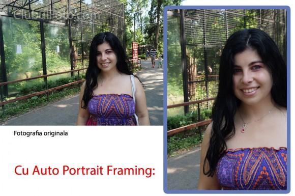 Sony A57: Auto Portrait Framing
