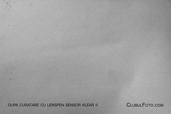 Dupa ce am curatat senzorul cu LensPen Sensor Klear II