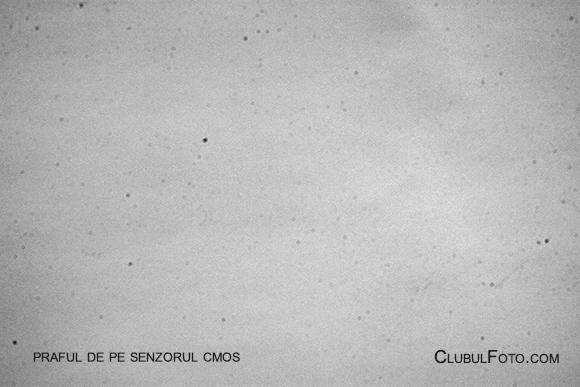 Praful de pe senzor, inainte sa utilizez LensPen SensorKlear II