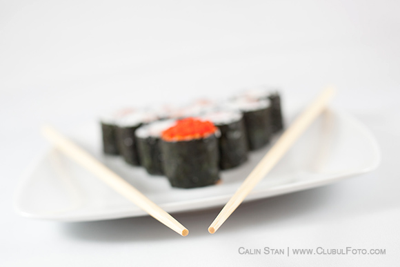 Sushi cu Canon 40mm f/2.8 STM