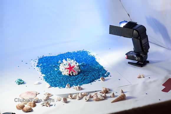 Making of: utilizand un filtru Rouge albastru montat pe blitz