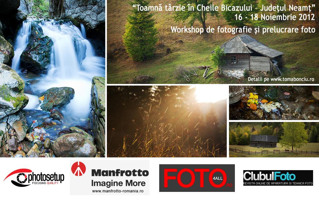 Workshop foto in Cheile Bicazului