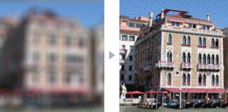 Poza originala (stanga) si imaginea rezultata dupa utilizarea programului Smart Deblur