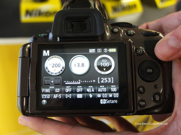 Nikon D5200 - Interfata grafica