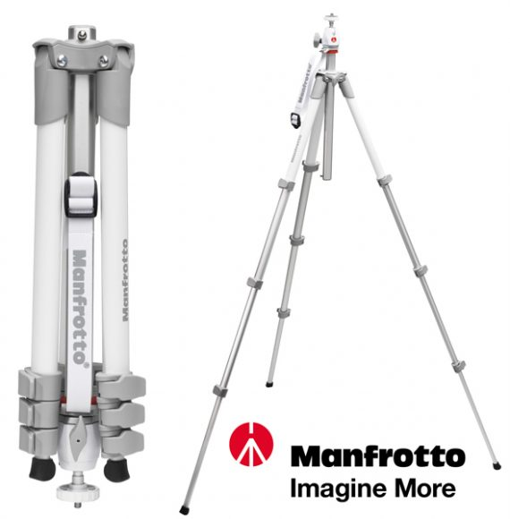 Trepiedul Manfrotto Compact White Edition