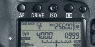 Canon 6D - functiile ecranului LCD secundar
