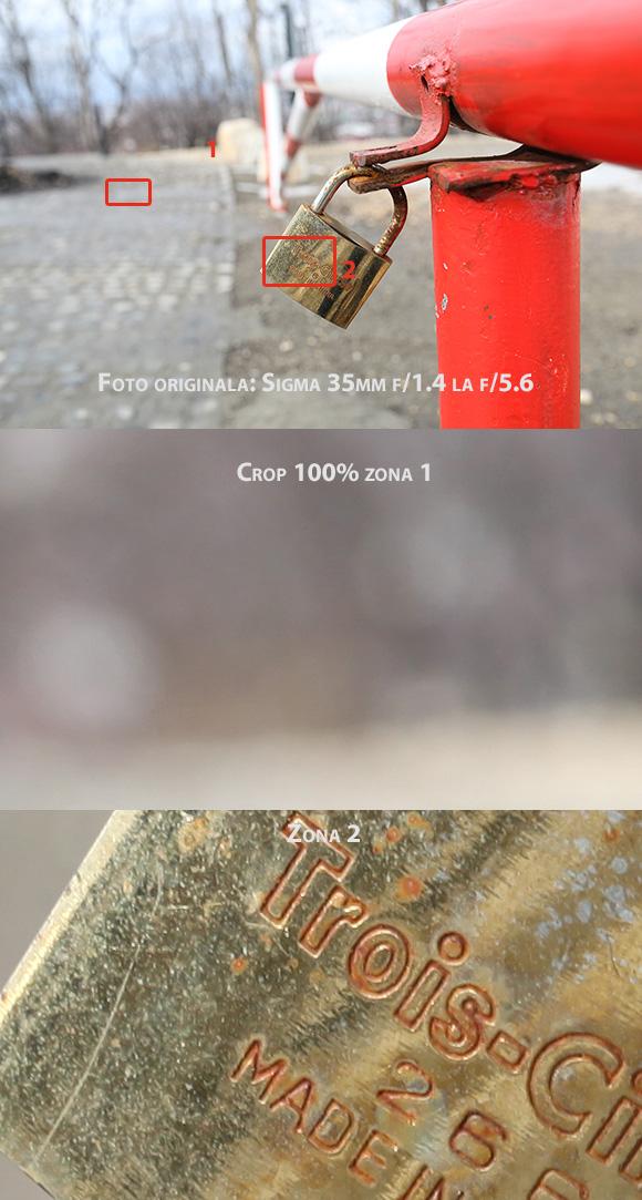 Sigma 35mm f/1.4 la f/5.6 pe timp de zi