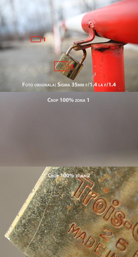 Sigma 35mm f/1.4 la f/1.4 pe timp de zi