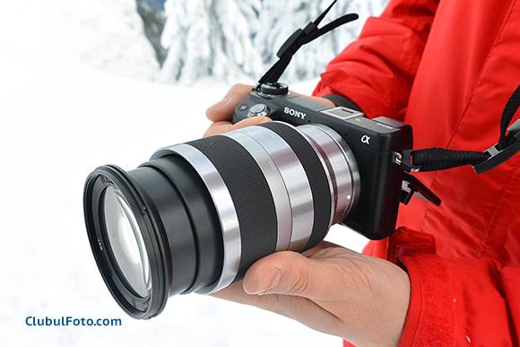 Sony 18-200mm f/3.5-6.3mm OSS pe Sony NEX-6