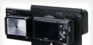Adaptorul RhinoCam permite montarea unui body Sony NEX la obiectivele pentru sistemul medium format