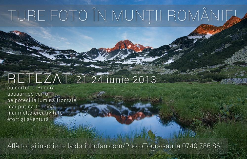 Tura foto in Retezat alaturi de Dorin Bofan