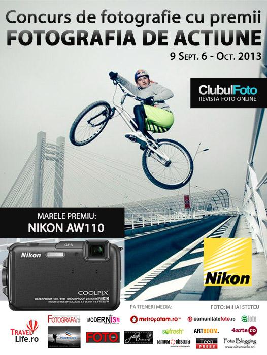 Castiga un aparat foto Nikon AW110 de la Nikon Romania