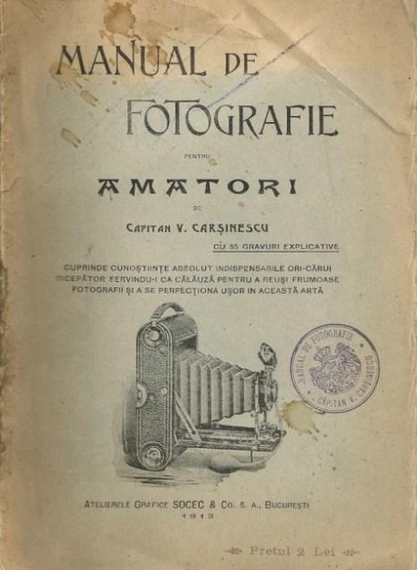 Manual de fotografie de la 1913