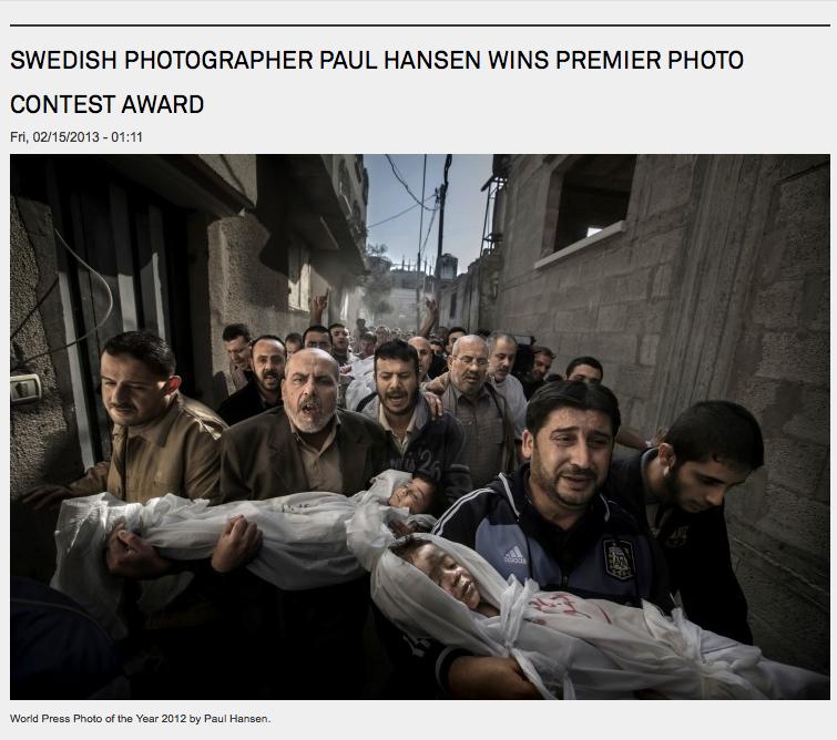 World Press Photo of the Year 2012 - Paul Hansen.