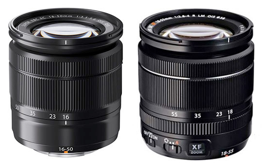 Fujifilm 16-50mm f/3.5-5.6 vs. 18-55mm f/2.8-4