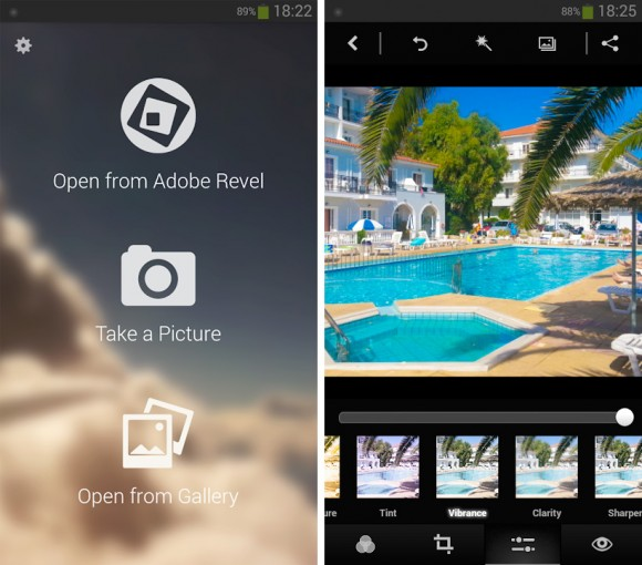 Adobe Photoshop Express pentru Android
