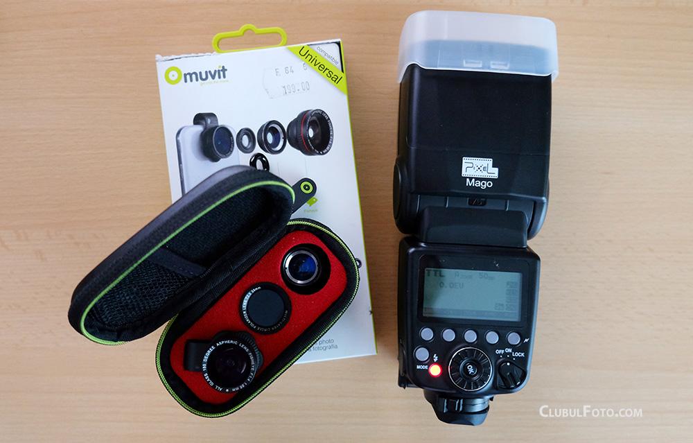 Noutati la teste: Kitul de lentile Muvit si blitzul Pixel Mago