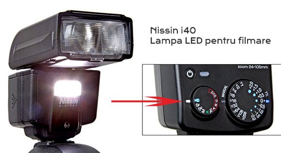 Nissin i40 lampa LED video