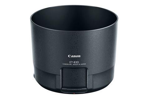 Parasolar Canon EF 100-400mm ce permite ajustarea filtrelor montate pe obiectiv