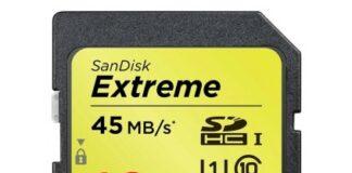 Sandisk Extreme 16 GB, 45 MB/sec