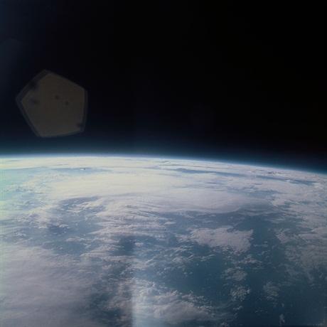 Fotografie realizata in timpul misiunii Mercury 8