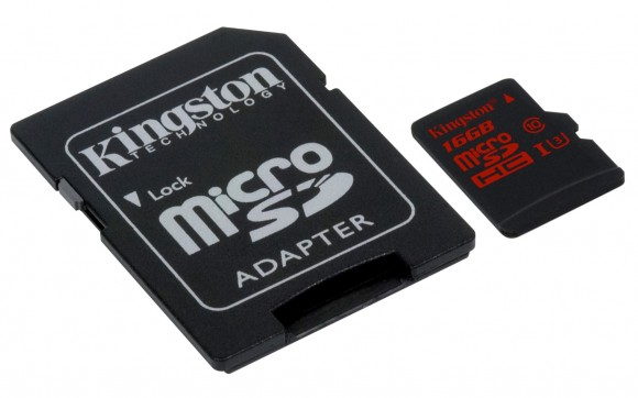 Cardul Kingston MicroSD UHS-i cu adaptor SD