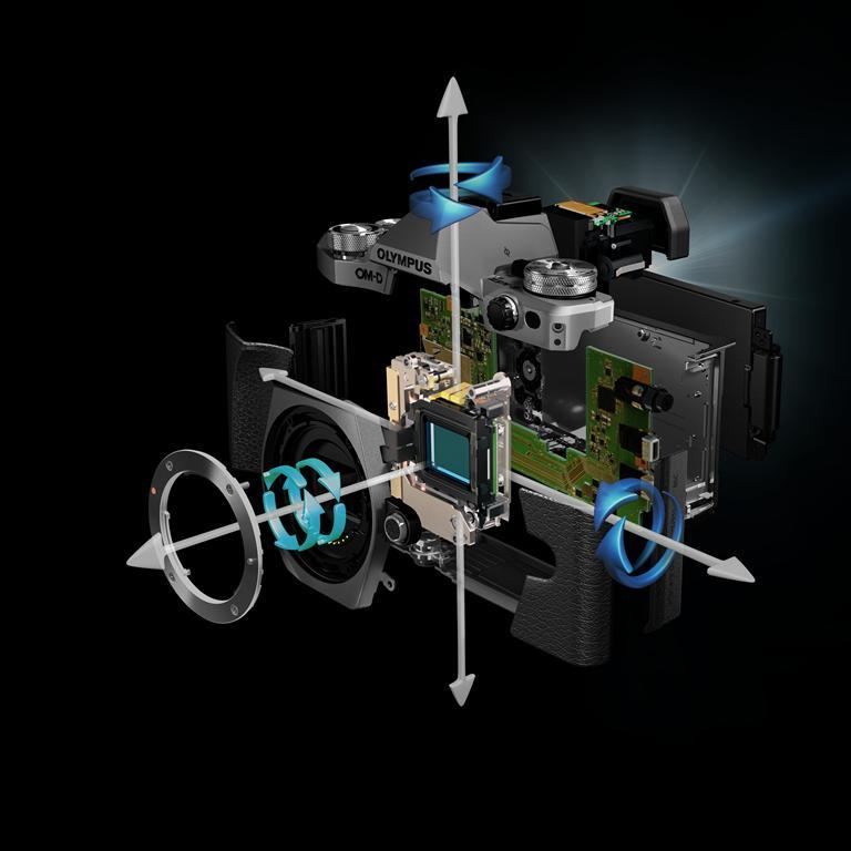 Sistemul sensor-shift si stabilizarea pe 5 axe