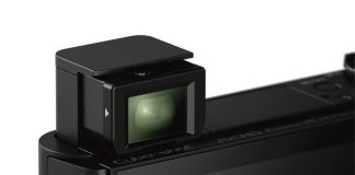 Sony HX90V si vizorul rabatabil (pop-up)