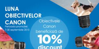 10% reducere la obiective Canon