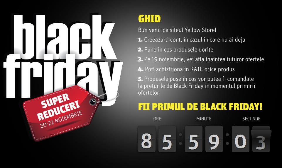 Black Friday la Yellowstore: 20-22 Noiembrie 2015