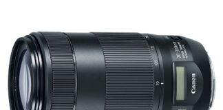 Canon 70-300mm II USM cu ecran LCD in locul scalei de distante mecanice